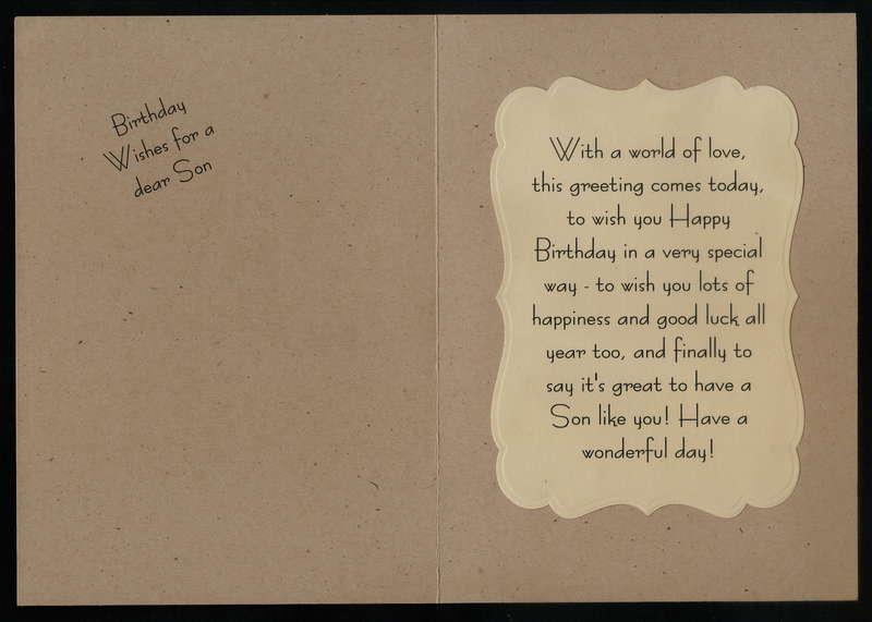 Gentleman Birthday Card Inside