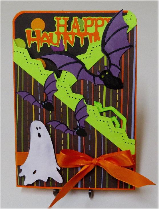 Ghost Lg. Gate Fold Halloween Card