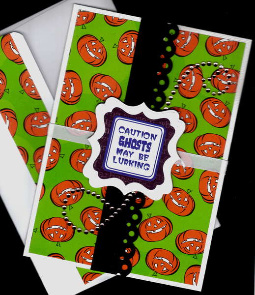 Ghosts May Be Lurking Halloween Card
