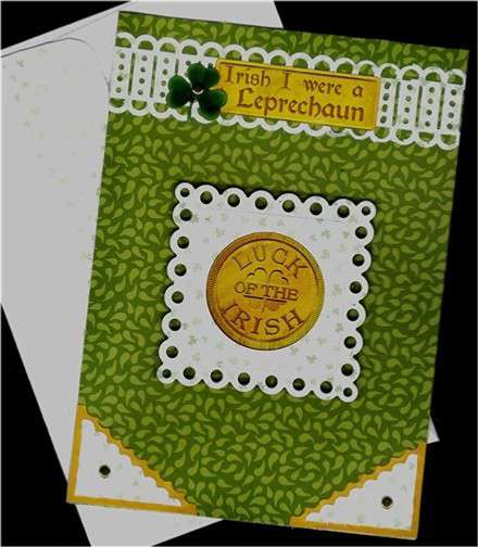 Gold Coin St. Patrick's Day card
