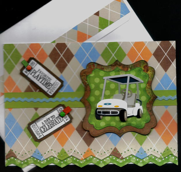 Golf Cart And Tickets Card