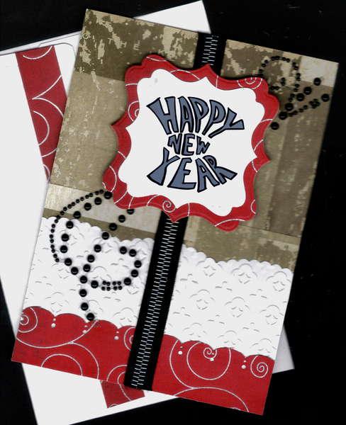 Gray Happy New Year Card