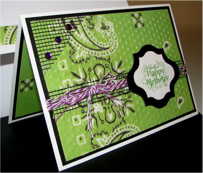 Green Bandana Birthday Card