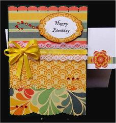 Happy Birthday Paper Piecing Card