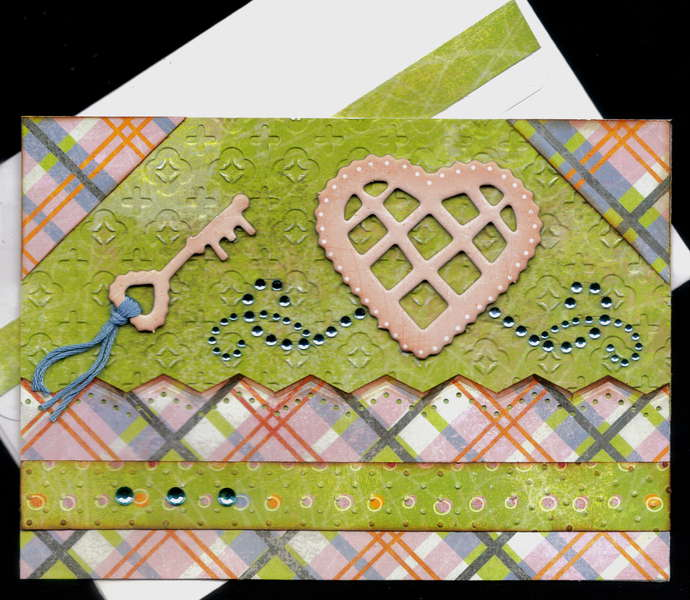 Heart  And Key Valentine Card