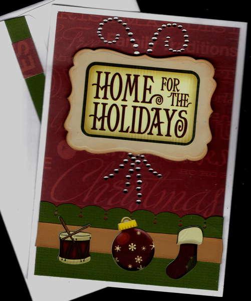 Home For Holidays Xmas Card