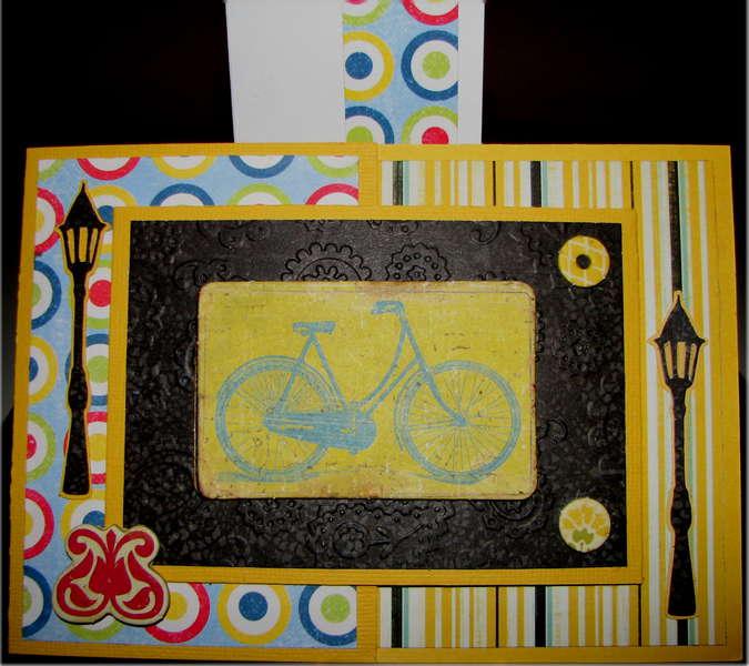 Joy Fold Bicycle Birthday Card