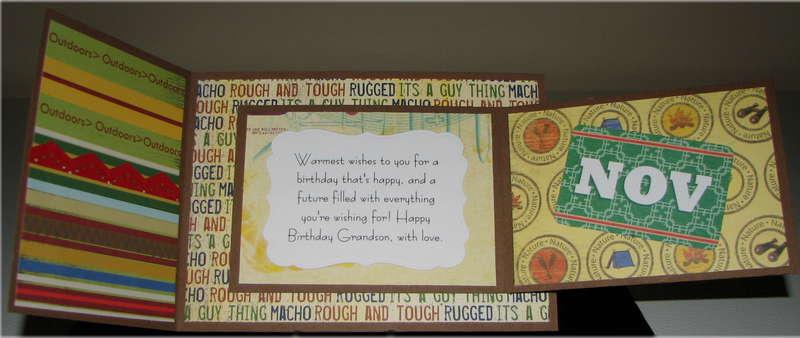 Joy Fold November Birthfday Card Inside