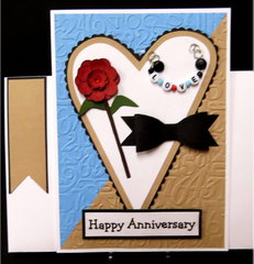 Large Heart Anniversary Card