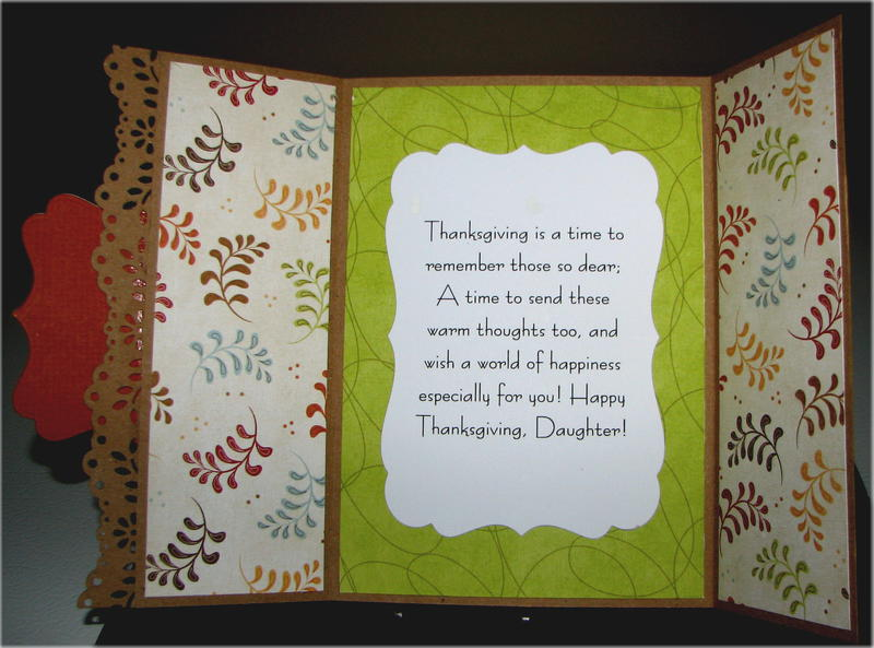 Leaves And Turkey Gf Happy Thanksgiving Card Inside