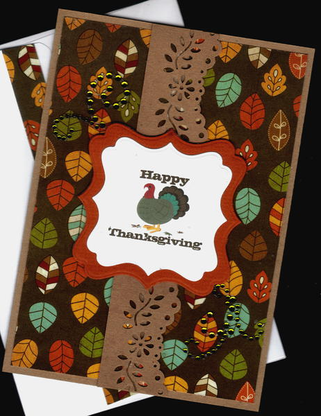 Leaves And Turkey Gf Happy Thanksgiving Card