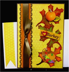 Leaves Yellow Thanksgiving Card
