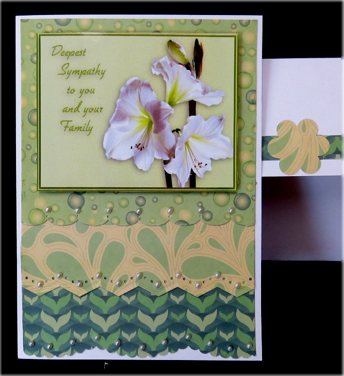 Lillies Green Sympathy Card