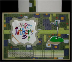 Multi Color Happy Fathers Day Golf Card