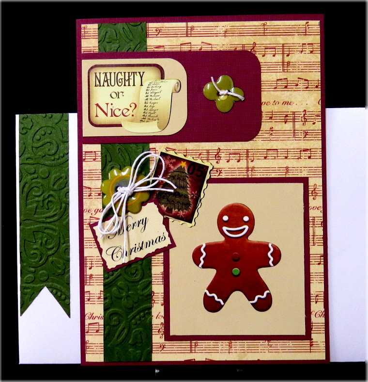 Naughty Nice Gingerbread Xmas Card