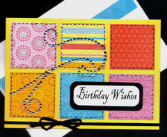 Patchwork Birthday Wishes Card