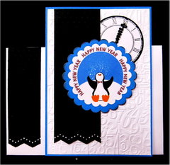 Penguin Happy New Year Card
