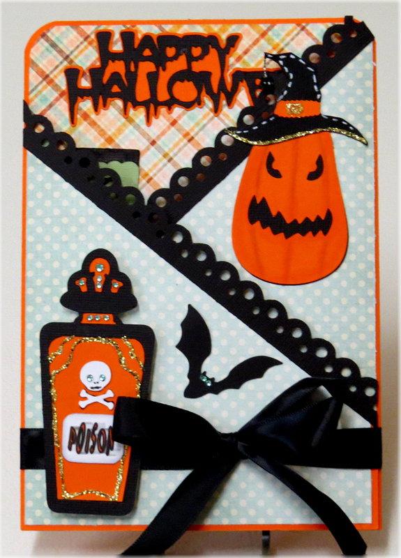 Poison Lg. Gate Fold Halloween Card