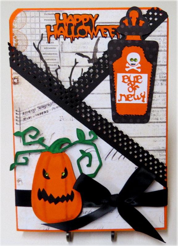 Pumpkin Lg. Gate Fold Halloween Card