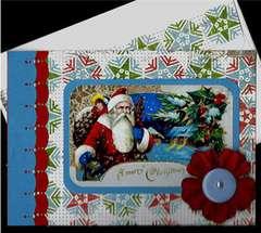 Santa Snow Scene Christmas card