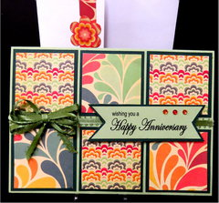 Squares Anniversary Card