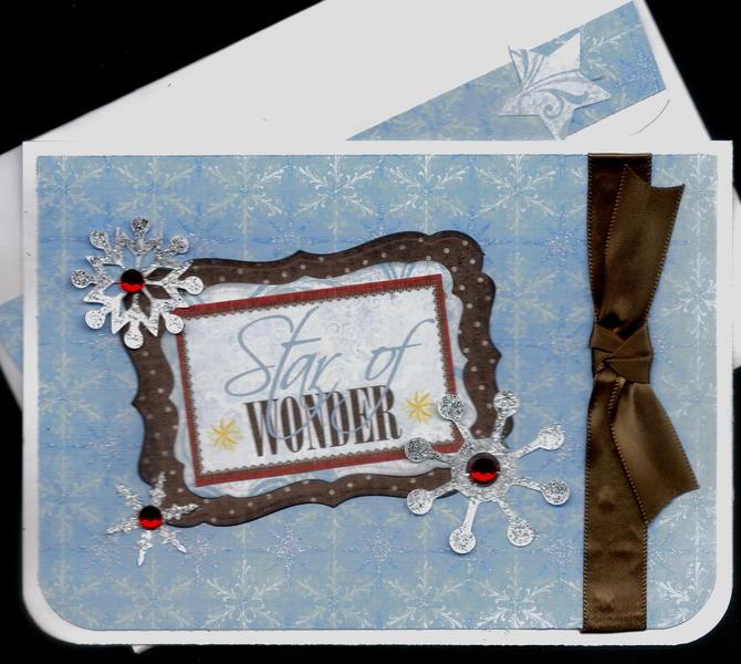 Star Of Wonder Xmas Card