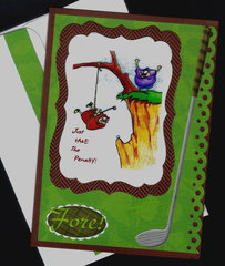 Take the Penalty Golf Birthday Card