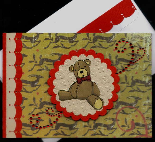 Teddy Bear Xmas Card
