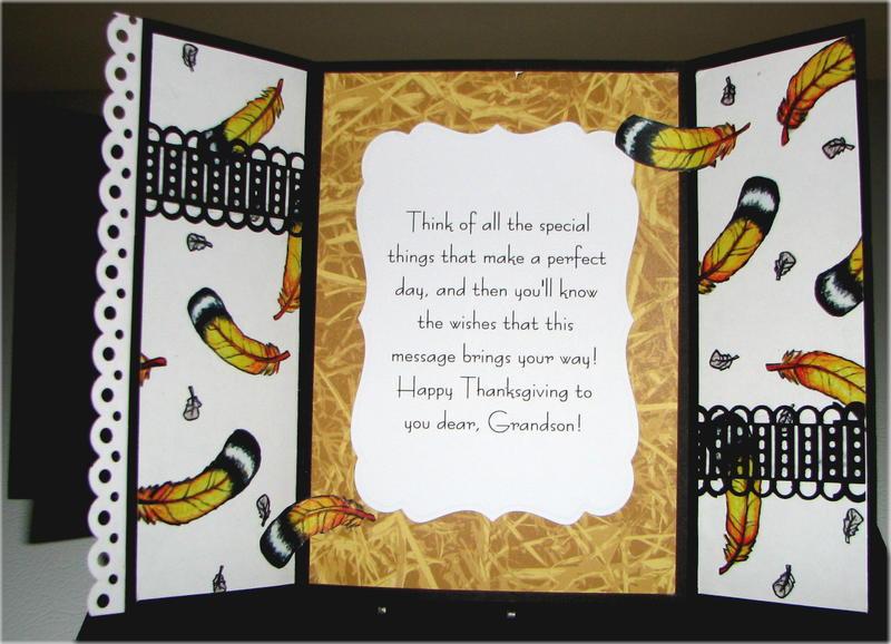 Top Hat Turkey Gf Thanksgiving Card Inside