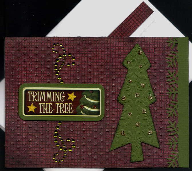 Trimming The Tree Xmas Card