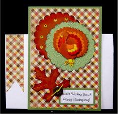 Turkey Plaid Thanksgiving Card