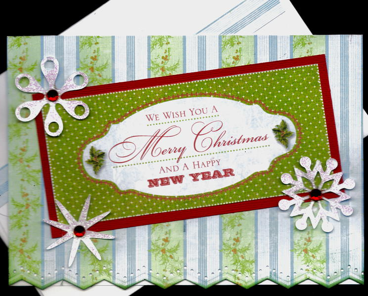 We Wish You A Merry Christmas And A Happy New Year Card