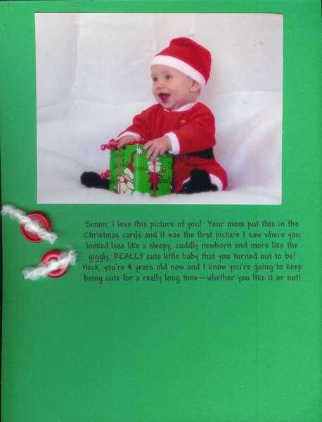 Simon's Christmas Card Picture 2002