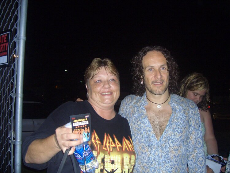"""Me and Vivian """"Viv"""" Campbell of Def Leppard"""