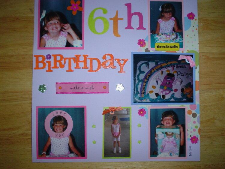Paige's 6th Birthday