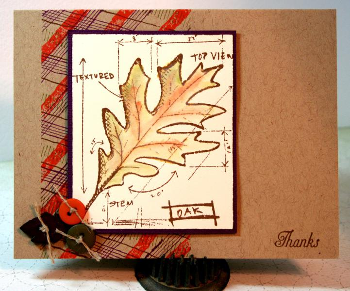 Fabulous Plaid Fall Leaf - Thanks