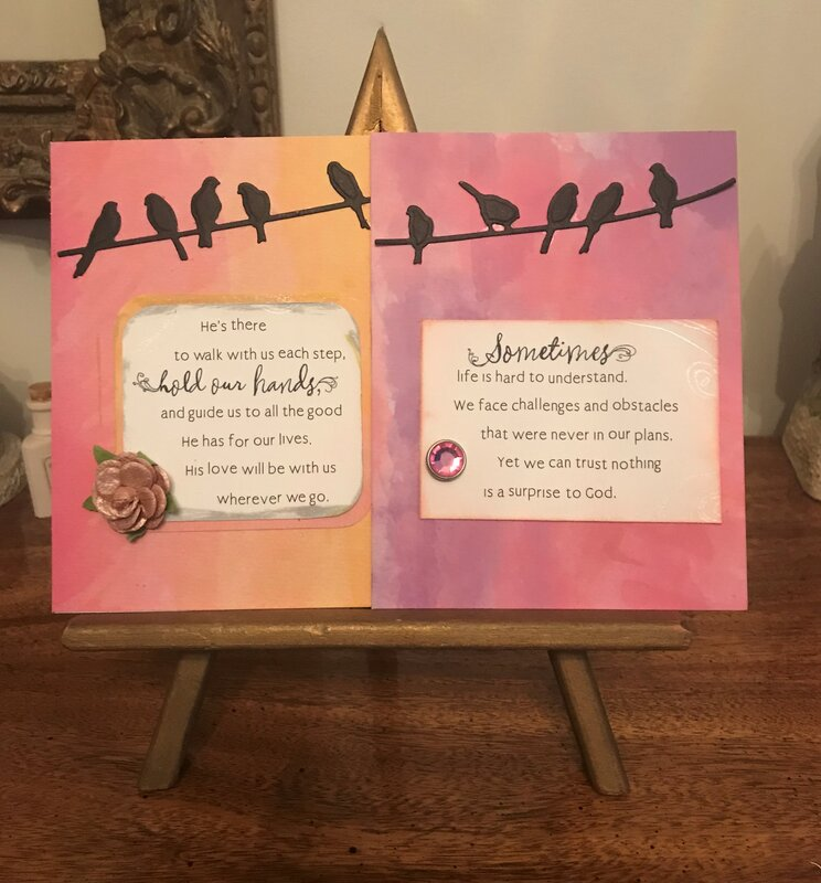 Two encouragement cards