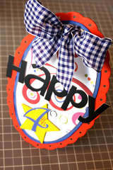 'Happy 4th' Large Gift Tag