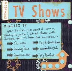 left - favorite TV shows