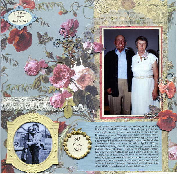 Al & Marie Burger Marriage~50th Anniversary Page