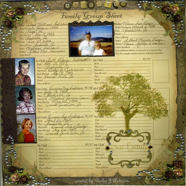Andersen Family Group Sheet