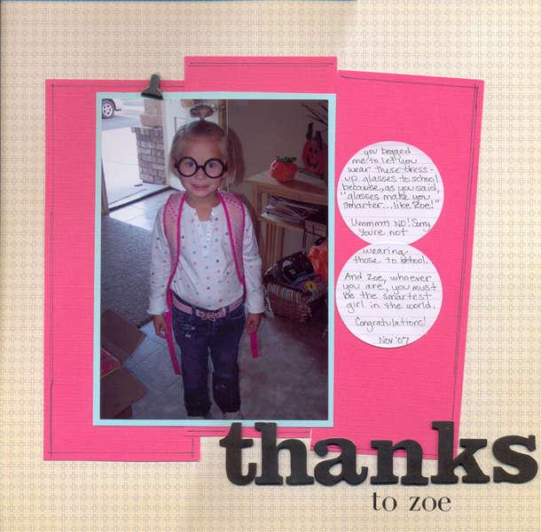 Thanks to Zoe