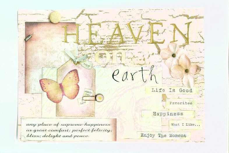 """title page for circle journal """"heaven on earth"""""""