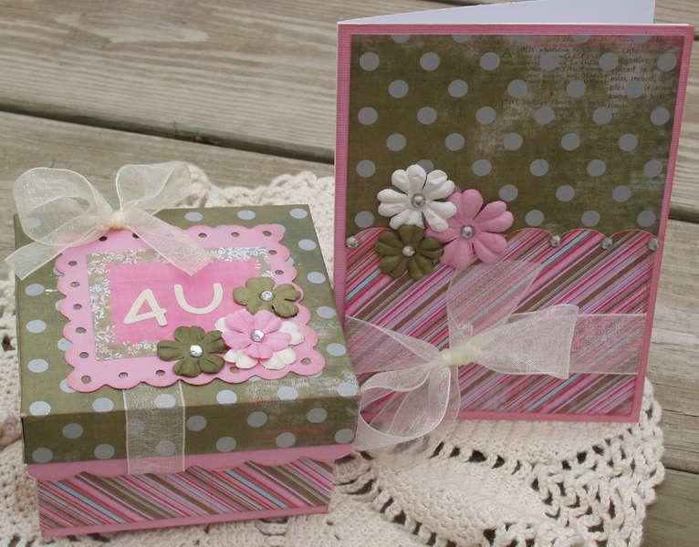 Card and gift box set