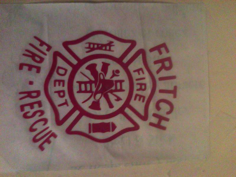 Fritch Fire Decal