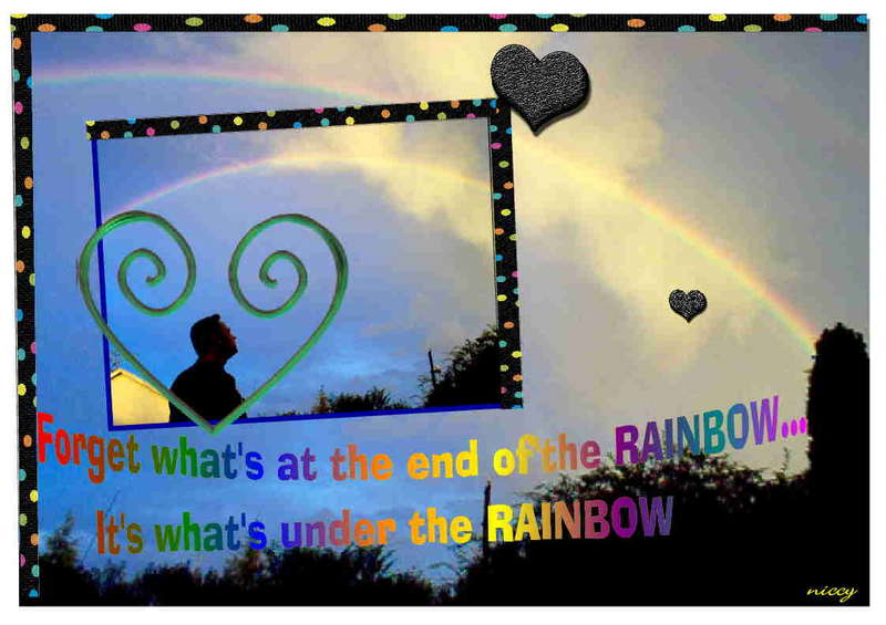 Forget what's at the end of the rainbow. It's what's under the rainbow