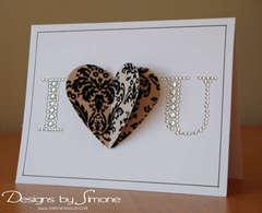 Damask Velvet Heart Card