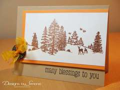 Fall Woodland Scene Card