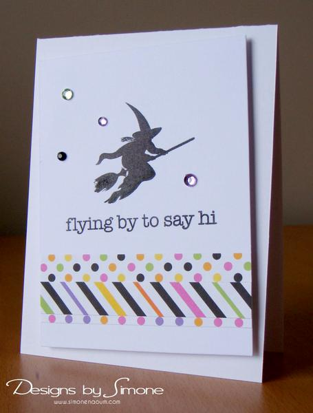 Flying By Witch Card