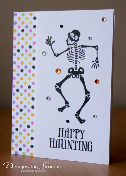 Happy Haunting Skeleton Card